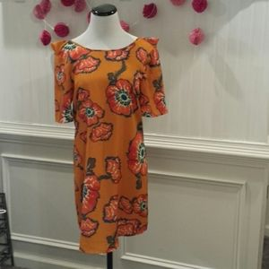Woman's Orange Floral Dress Size M